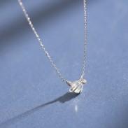 Cute Simple Dream Crystal Silver Little Devil Pendant Temperament Necklace
