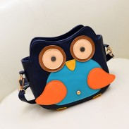 Lovely Cute Owl Contrast Color Graffiti Print Shoulder Bag