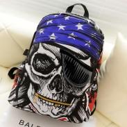 Fashion Pirate Pentagram Printing Leisure Backpack