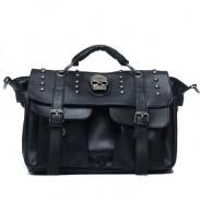 Vintage Black Skull Rivets Messenger Bag&Shoulder Bag