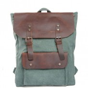 Vintage Style Leisure College Women Bag Leather Travel Backpack
