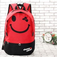 Cartoon Smiley Letters Printed Casual Backpack