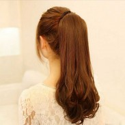 Super Natural Long Wavy Drawstring Ponytail Hair