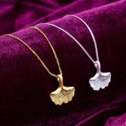 Fresh Ginkgo Nature Pendant Necklace/Ginkgo Jewelry