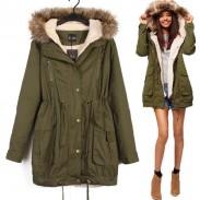 Casual Hooded Drawstring Long Fur Coats