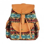 Retro Stripe Printing Leisure College Backpack