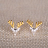Original Lovely Santa's elk 925 Silver Scrubs Earring