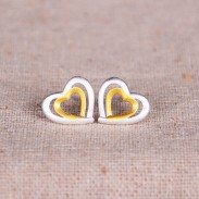 Double Hearts For Double Love 925 Silver Original Earrings