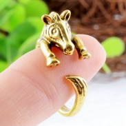 Animals Cute Alloy Zebra Opening Ring