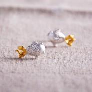 Original Lucky Goldfish 925 Silver Scrubs Earrings
