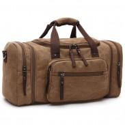 Retro Travel Large Sport Washing Multi Pockets Canvas Shoulder Bag