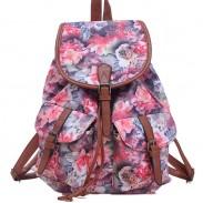 Leisure Rose Floral College Rucksack Flower School Bag Canvas Backpacks