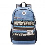 Big Folk Irregular Trunk College Rucksack Totem Camping Travel Canvas Backpack