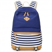 Fresh Splice Striped Trunk Travel Rucksack School Canvas Backpack