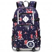 Cool UK Flag Oxford Camouflage Large Student Travel Bag Men Camping Laptop Backpack