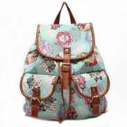 Fashion Tower Floral Canvas Schoolbag Backpack Travel Backpack