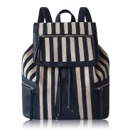 Fashion New Classic Pope Splice Striped Diamond Backpack