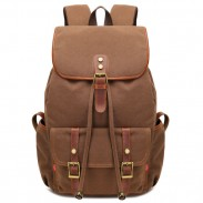 Retro Splicing Rivets Drawstring Rucksack Travelling Large Capacity Outdoor Canvas Backpacks