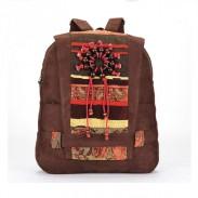 Vintage Handmade Wooden Bead Backpack