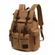 Vintage Brown Scrub Canvas Backpack