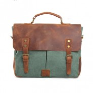 Vintage Canvas With Good Leather Handbag&Messenger Bag
