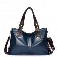 Casual Fashion Oil Wax Leather Ladies Dermis Handbag