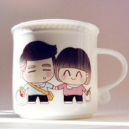 Grow Old Couple Discolor Birthday Gift Ceramics Cup