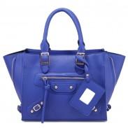 Stylish Side Zipper Buckle Leather Handbag Shoulder Bag