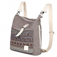Folk Ladies Canvas Backpack Totem Women Rucksack National School Bag