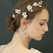 Unique Original Bridal Hairpin Flower Branch Leaves Wedding Hair Accessories