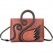 Retro Creative Swan Handmade Large 3D Animal Handbag Shoulder Bag
