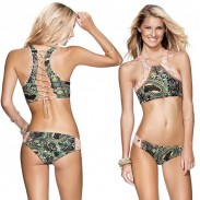 Irregular Graphics Totem Printed Bikini