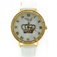 Personalized Rhinestone Crown Polymer Clay Watch