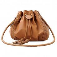 Vintage Lace Tassel Lace Bucket Shoulder Bag