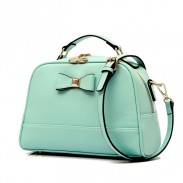 Sweet Candy Color Bow Leather Shoulder Bag&Messenger Bag