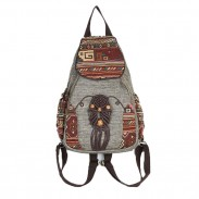 Folk Style Totem Weave Retro Canvas Travel Girl's Backpack