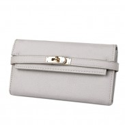 Fashion Litchi Pattern Ladies Clutch Bag Multi-card Purse Long Wallet