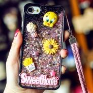 Cute Cartoon Stereo Rabbit Bear Chick Glitter Quicksand Phone Case Iphone 6/6 plus/6s/6s plus/7/7 plus Case
