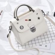 Unique Lipstick Button PU Leather Handbag Multi-function Women Tote Shoulder Bag
