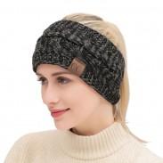 Fashion Motley Twist Soft Thick Wool Headband Knit Warm Winter Women Hairbands