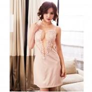 Sexy LingerieTransparent Halter Elegant Multi-color Lace Nightdress Diamond Harness Lingerie