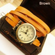 Fashion Vintage Style Multi-wraps Thin Belt Retro Watch