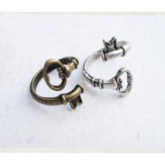 Vintage Bending Keys Handmade Ring