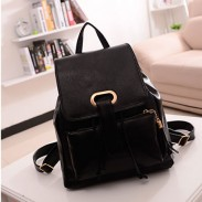 Fresh Cream Leather Stereoscopic Backpack
