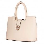 Elegant Cream Atmosphere Arrow Leather Handbag