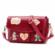 Cute Bear Cartoon Messenger Bag Shoulder Bag