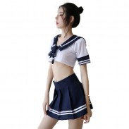 Sexy Seduction Sailor Suit Cosplay Playful Student Girl's lingerie