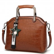 Unique Girl's PU Shell Multifunction Shoulder Bag Tote Handbag