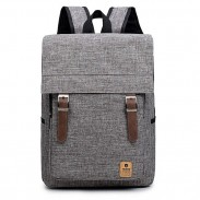 Simple British Style Travel Rucksack Canvas Large School Backpack