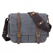 Retro Waterproof Outdoor Camera Bag Men's Large Travel Canvas Shoulder Bag